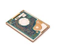 Mecanismo impulsor de disco duro aislado en blanco Imagenes de archivo