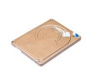 Mecanismo impulsor de disco duro aislado en blanco Fotos de archivo