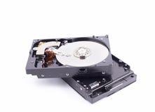 Mecanismo impulsor de disco duro con la cubierta del metal quitada Foto de archivo