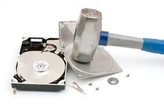 Mecanismo impulsor de disco duro de destrucción Imagen de archivo