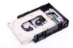 Mecanismo impulsor de DVD adentro Fotos de archivo
