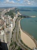Mecanismo impulsor de la orilla de Chicago, lago imagen de archivo libre de regalías