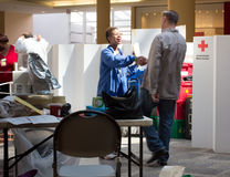 Mecanismo impulsor de sangre americano de la Cruz Roja Foto de archivo libre de regalías
