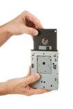 Mecanismo impulsor del disco blando a disposición Foto de archivo