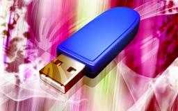 Mecanismo impulsor del flash del USB Imágenes de archivo libres de regalías