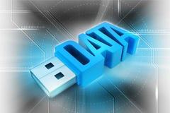 Mecanismo impulsor del flash del USB Imagen de archivo