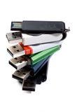 Mecanismo impulsor del pulgar del USB imagenes de archivo