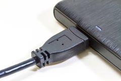 Mecanismo impulsor duro externo con el cable del usb Imagen de archivo