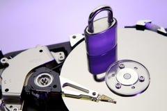 Mecanismo impulsor duro y bloqueo del ordenador Imagenes de archivo