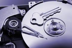 Mecanismo impulsor duro y clave del ordenador Imágenes de archivo libres de regalías