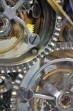 Mecanismo interno del reloj Imágenes de archivo libres de regalías