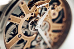 Mecanismo interno do relógio de pulso Imagens de Stock Royalty Free