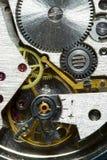 Mecanismo macro del reloj Fotografía de archivo