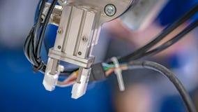 Mecanismo robótico de la mano fotografía de archivo
