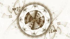 Mecanismo, roda denteada metálica antiga ilustração royalty free