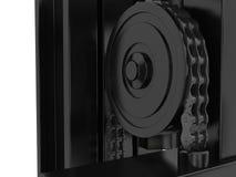 Mecanismo superior do carregador da empilhadeira e da movimentação chain rendição 3d Imagens de Stock Royalty Free