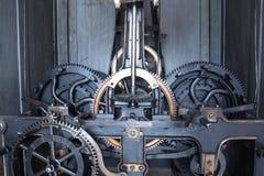 Mecanismo velho do relógio Foto de Stock Royalty Free