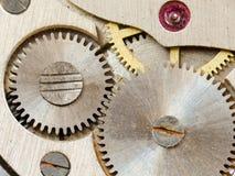 Mecanismo velho do relógio Fotografia de Stock Royalty Free