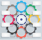 Mecanismos de papel multicolores con las etiquetas libre illustration
