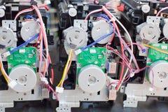 Mecanismos desmontados das impressoras Fotografia de Stock Royalty Free