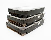 Mecanismos impulsores de disco duro internos, empilados Fotografía de archivo