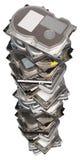 Mecanismos impulsores duros empilados grandes Imagen de archivo libre de regalías