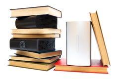 Mecanismos impulsores duros y libros viejos Foto de archivo libre de regalías