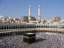 Mecca. Muslim`s in Mecca, Saudi Arabia royalty free stock photo
