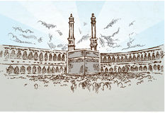Mecca background Royalty Free Stock Images