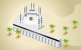 Mecca city and kaaba Royalty Free Stock Image