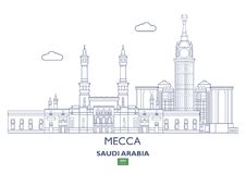 Mecca City Skyline, Arábia Saudita Imagem de Stock Royalty Free