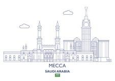 Mecca City Skyline, Saudi Arabia Royalty Free Stock Image