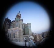 Mecca Clock Tower de Abraj Al Bait na Meca foto de stock