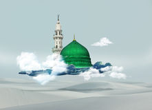 Mecca kaba - Saudi Arabia Green Dome of Prophet Muhammad design.  Royalty Free Stock Images