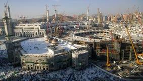Mecca Masjid Al Haram utvidgningsprojekt Fotografering för Bildbyråer