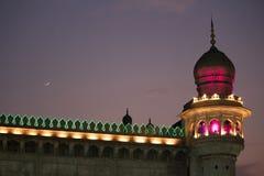 Mecca Masjid Mosque ao lado de charminar, Hyderabad Fotos de Stock