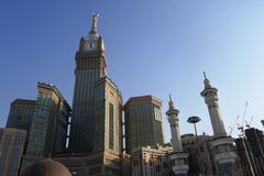 Mecca Royal Hotel Clock Tower arkivbild
