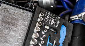 Meccanici del motore Immagine Stock