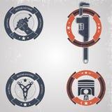 Meccanici dell'emblema Immagini Stock Libere da Diritti