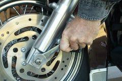 Meccanico del motociclo Fotografie Stock