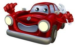 Meccanico di automobile del personaggio dei cartoni animati Fotografia Stock