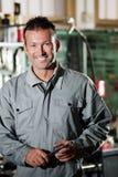 Meccanico sorridente Fotografia Stock