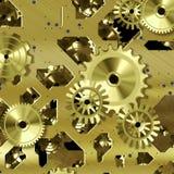 Meccanismo artificiale dell'orologio Fotografia Stock