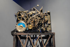 Meccanismo d'annata dell'orologio Immagini Stock Libere da Diritti