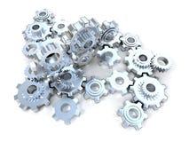 Meccanismo d'argento Immagini Stock