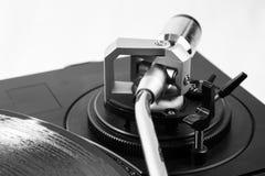 Meccanismo del giradischi del primo piano Fotografia Stock Libera da Diritti