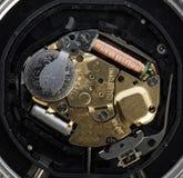 meccanismo del quarzo dell'orologio, batteria, bobina Fotografia Stock Libera da Diritti
