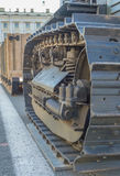 Meccanismo del trattore a cingoli, fine su Fotografia Stock Libera da Diritti