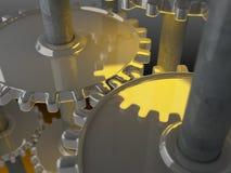 Meccanismo dell'orologio Fotografie Stock