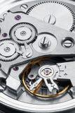 Meccanismo dell'orologio con gli ingranaggi Fotografie Stock Libere da Diritti